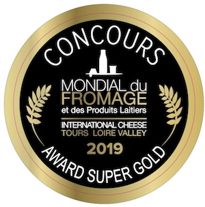 AWARD SUPER GOLD  WORLD CHEESE IN FRANCE